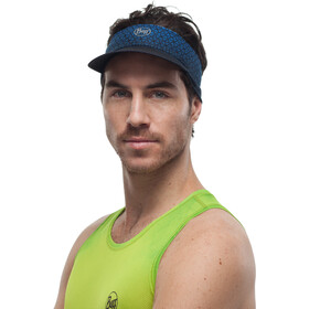 Buff Pack Run Visor reflective-equilateral cape blue